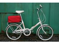 Vintage Raleigh Compact Folding Town Bike Fully Serviced.