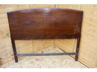 Antique Solid Wooden Large Double Bed Frame