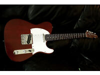 TELECASTER Electric Guitar Mahogony/Rosewood fender strings great player