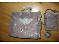 Beaba Sac Sydney Nappy Bag Baby Diaper Changing Bag - Grey / Blue
