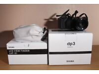 Sigma DP3 Quattro Digital Camera + LCD Viewfinder Kit - Excellent Condition