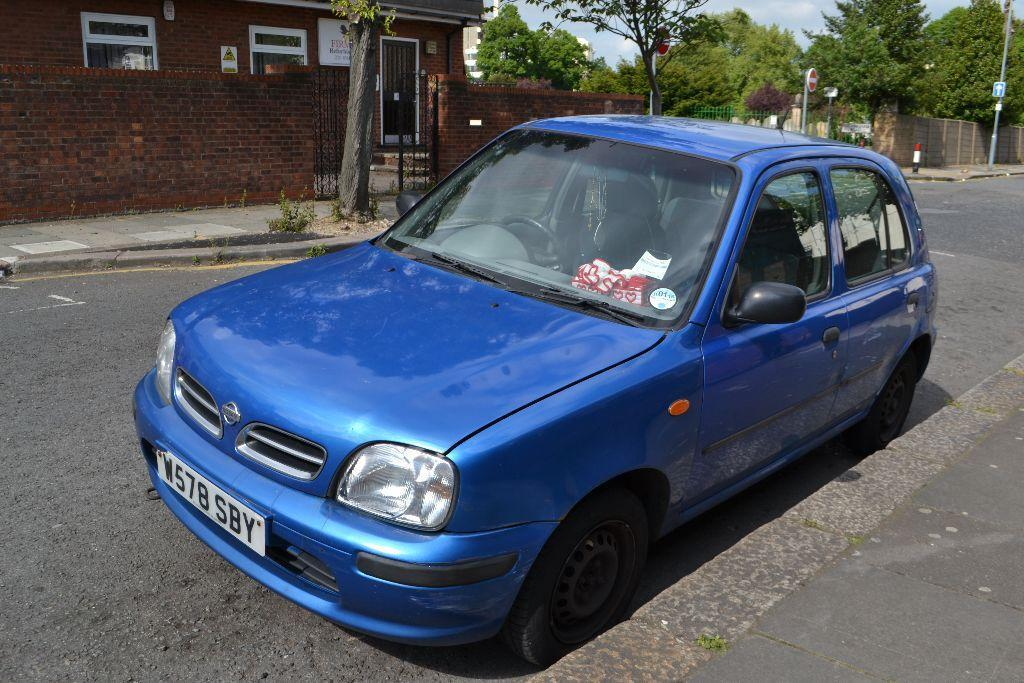 Blue Nissan Micra Automatic 5 Doors Very Clean Cheap Car