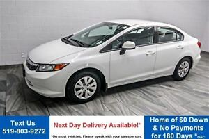 2012 Honda Civic LX  BLUETOOTH! POWER PACKAGE! CRUISE CONTROL! K