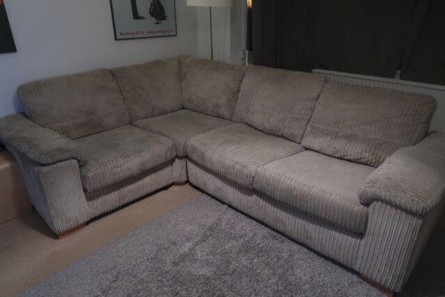 Dfs Riva Cord Corner Sofa Bed In Dark