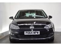 VOLKSWAGEN GOLF 2.0 GT TDI BLUEMOTION TECHNOLOGY 5d 148 BHP (black) 2014