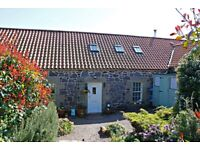 2 bed cottage 5 minutes from North Berwick. Idyllic quiet setting, large gardens, move in condition.