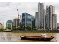 2 rooms to rent with ensuites in 3 bed luxury property. Thames view, pool with spa, gym,rooftop bar