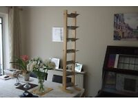 CD/DVD STAND IN ATTRACTIVE BEECH WOOD AND FROSTED SILVER