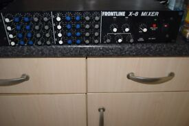 FROUNT LINE-X-8 MIXER 4 CHANNEL/4 IN PUT/JAPAN CAN BE SEEN WORKING