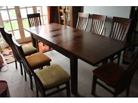 Dining Table 8 x Chairs - Very Stong/Solid/Well Built/Smart.