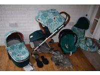 Mamas & Papas Urbo 2 - Donna Wilson Fox leaf - Pram travel system +extras 3 in 1 ***can post***