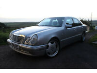 Mercedes Benz E-class W210 E55 AMG 5.4 V8 355bhp, full MoT, loads of new parts, DAB radio, very fast