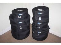 "THREE Protection Racket Drum Kit Tom Cases 12""/13""/16"" from £25"