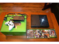 XBOX ONE BOXED AS NEW WITH GAMES AND NEW CONTROLLER