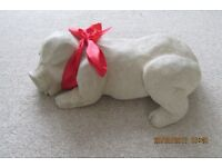 Collectable ornamental stone pig