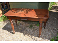 Mahogany Victorian antique side hall table