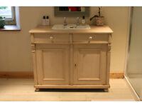 Bathroom Vanity Unit; Welsh Dresser with Inlaid Basin & Taps