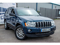 "Jeep Grand Cherokee Ltd 2006 Blue with Grey Leather 18"" Alloys. Mot great condition"