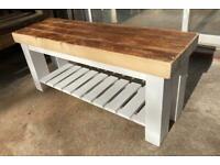 Handmade Wooden Indoor Bench
