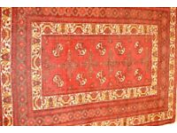 Antique persian handmade rug. Deep red. 136cm by 194cm