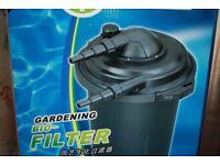pressurised pond filter