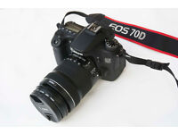 CANON EOS 70D + 18-135mm IS STM lens VERY LOW SHUTTER COUNT, LIKE NEW, PRISTINE CONDITION