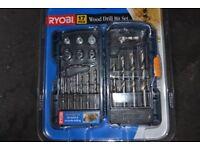 RYOBI WOOD DRILL SET BRAND NEW BOXED