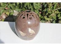 Unusual Vintage Studio Pottery Handmade Vase Birds Art Pottery Mothers Day