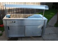 EMH mobile ceramic hot plate with cupboard heating