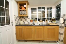 Cooke & Lewis Oak kitchen for sale including sink, tap, dishwasher, double oven & hob