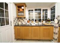 Cooke & Lewis Oak kitchen for sale including sink, tap, dishwasher, double oven & hob