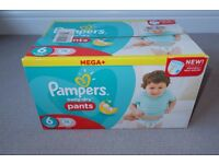 Pampers Nappies Baby Dry Pants Size 6 XL (76 pants) - Unboxed