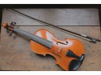 Yamaha V-5 full size (4/4) violin with bow, case, shoulder rest and rosin)