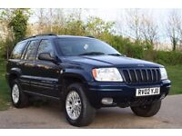 2002 JEEP GRAND CHEROKEE 2.7 AUTO DIESEL, VERY LOW MILEAGE, 3 MONTH WARRANTY