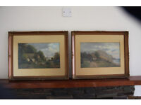 Pair of oil paintings signed by Frank Rawling Offer 1870s