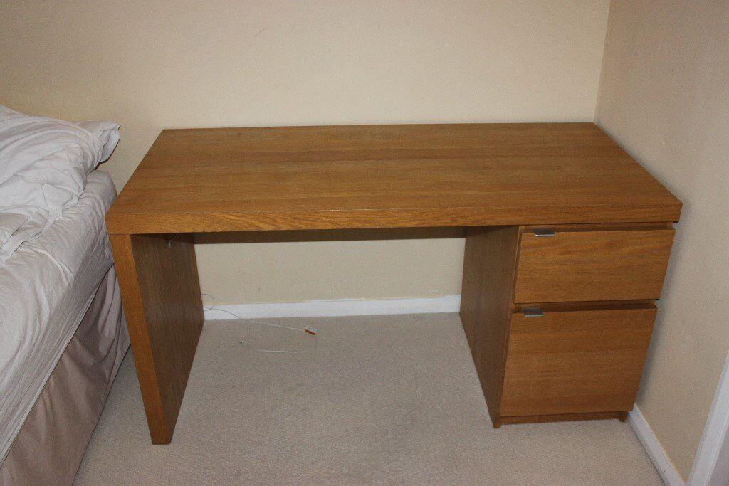 Ikea Malm Desk - Oak Veneer