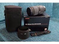 Sigma 50-150mm F2.8 APO EX DC for Nikon