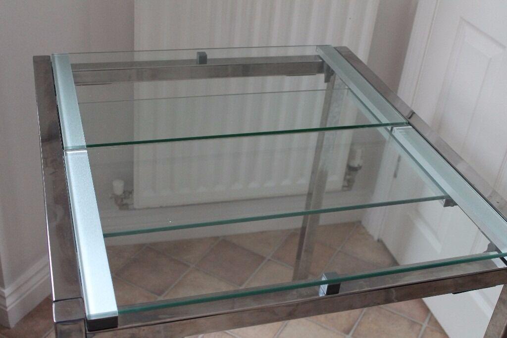 Lovely Ikea Quot Glivarp Quot Glass Amp Metal Extendable