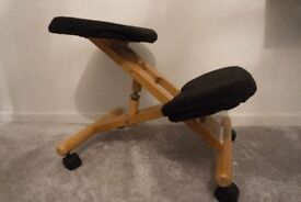 Posture Control Office Chair - Ergonomic Chairs - Black and Wood