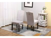 Faux Leather Kitchen Dining Chairs