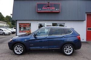 2012 BMW X3 xDrive28i AWD CUIR TOIT PANO 8 MAGS 102 000