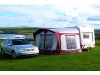 Bradcot Classic Full Awning Size 810 Burgundy Grey