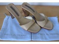 PIED a TERRE Vero Cuoio (Real Leather) Heels. Size 39.5 (UK 6.5). Used.