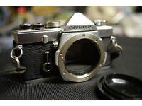 Olympus OM-1 SLR camera, mechanical shutter, OM mount, manual focus