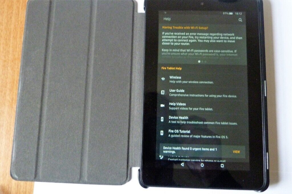 KINDLE FIRE HD 7 ( 5th Gen ) 8 GB, WiFi, BLACK-Touchscreen In Excellent  Condition and Working Order | in Leith, Edinburgh | Gumtree