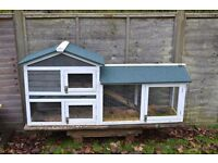 Large Rabbit Hutch with stand