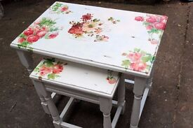 French Vintage Coffee tables Set Shabby Chic