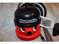 Numatic Red Henry Hoover 110V suitable for builders.