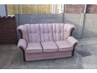 Three Seater Leather Sofa