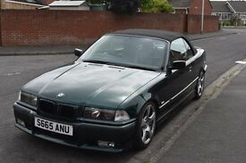 BMW E36 328i manual convertible Fern Green
